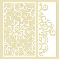 Plantilla de patrón decorativo troquelado sin costuras vector