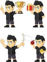 Rocker Musician Boy Customizable Mascot Cartoon Vector Drawing