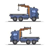 Tow Truck On White Background vector