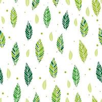 Vector illustration of leaves seamless pattern. Floral organic background. Hand drawn leaf texture. Element design.