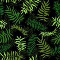 Seamless green leaves. Tropical background. Print for web, fabric and wrapping paper. vector
