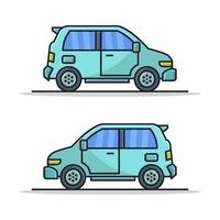 Car Illustrated On White Background vector