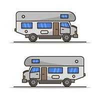 Motorhome Illustrated On White Background vector