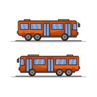 City Bus Illustrated On Background vector