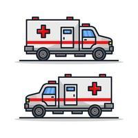 ambulancia sobre fondo blanco vector