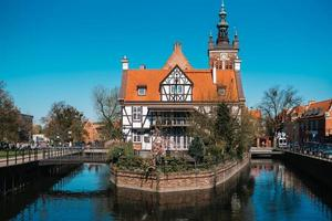 Gdansk, Poland 2017- Buildings and architectural elements historical part of Gdansk, Poland photo