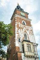 Krakow, Poland 2017- Tourist architectural attractions in the historical square of Krakow