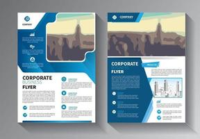 Brochure design, cover modern layout, annual report set vector