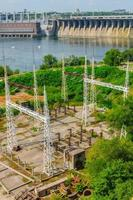2015- Dnieper River, England- Hydroelectric dam on the Dnieper River