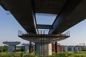 Bridge building with pillars photo