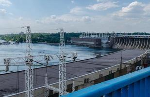 Hydroelectric dam on the Dnieper River