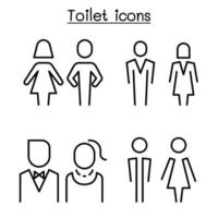 Toilet, restroom, bathroom symbol set in modern style