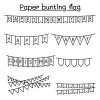Paper bunting flag vector illustration graphic design