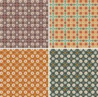seamless ornate floral vector tile patterns
