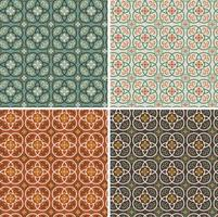 seamless ornate vector tile patterns