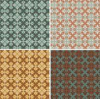 seamless ornate decorative geometric vector tile patterns