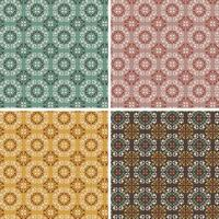 ornate geometric vector tile patterns
