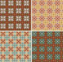 decorative geometric seamless vector tile patterns.