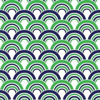 mod blue green seamless scallop geometric vector patterns