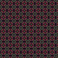 neon seamless intricate tile pattern on black background vector