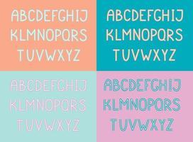 Set of handwritten English alphabet vector