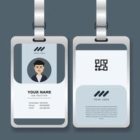 plantilla de tarjeta de identificación corporativa profesional con maqueta vector