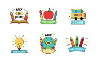 Hand Drawn Back to School Label Set vector