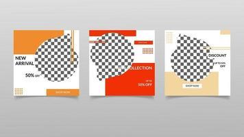 plantilla de publicación de redes sociales de venta de moda. diseño de vector de banner.