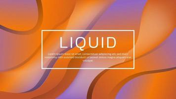 Abstract 3D Liquid Gradient Background with Soft Color for Web Landing Page and Wallpaper vector
