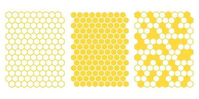 Yellow hexagonal honeycomb grid vector
