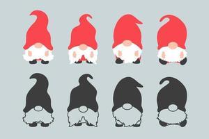 Dwarf gnomes set vector