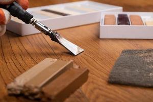 restauración de suelos de madera foto