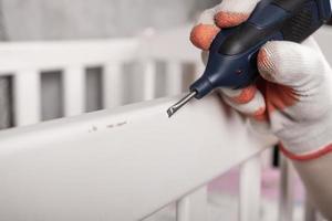 reparación de pintura desconchada foto
