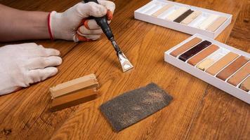 restauración de madera laminada foto