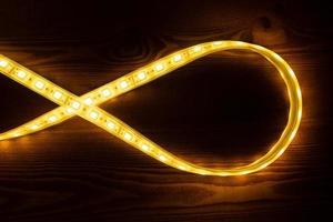luces led de oro foto