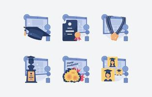 New Normal for Graduation Icon vector