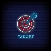 Target Neon Signs Vector