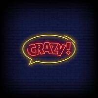 Crazy Neon Signs Style Text Vector