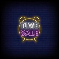 Time Sale Neon Signs Style Text Vector