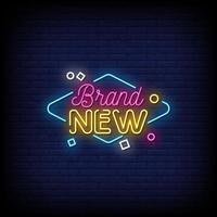 nuevo vector de texto de estilo de letreros de neón