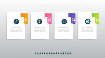 Abstract 4-step infographics for workflow or presentation vector