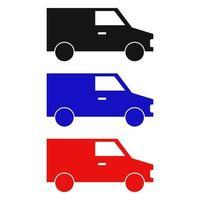 Van Set On White Background vector