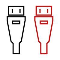 Cable USB sobre fondo blanco.