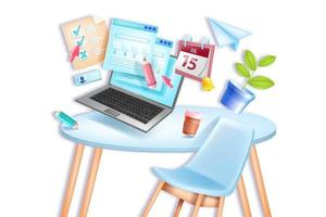 examen en línea, escuela de educación vectorial, prueba de casa remota de la universidad vector