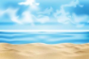 Beach And Sky background vector