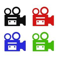 cámara de video en fondo blanco vector