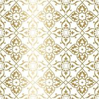 Golden geometric pattern. Minimal pattern. Vintage. Stylized flowers. Great for fabric and textile, invitations, fashion, business cards, wallpaper, packaging or any desired idea. vector