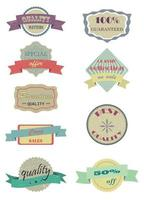 9 Labels and banners vintage set. Vector