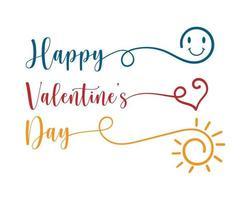 Happy Valentine's day typography card vector