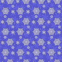 Seamless winter snowflakes pattern. vector